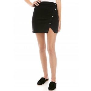 NWT Free People Notched Side Button Denim Skirt